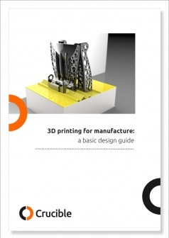3D printing for manufacture - a basic design guide